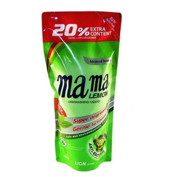 Купить Lion Mama Lemon Green Tea Fragrance Зеленый чай Гель для мытья посуды 600мл запасной блок