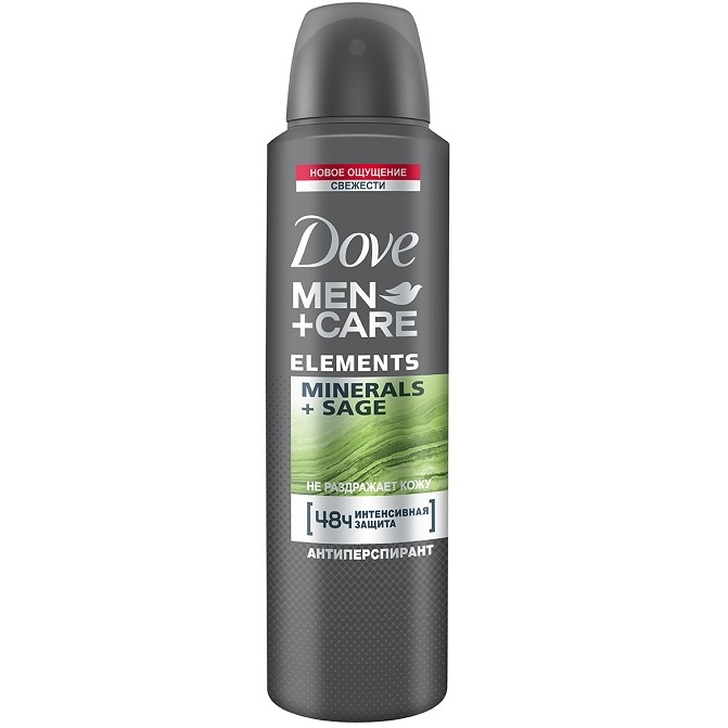 Dove Дезодорант-антиперспирант аэрозоль  мужской ELEMENTS Свежесть Минералов и Шалфея 150мл