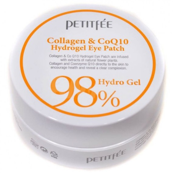 Купить Petitfee патчи для век гидрогелевые Collagen&CoQ10 Hydrogel Eye Patch 60шт