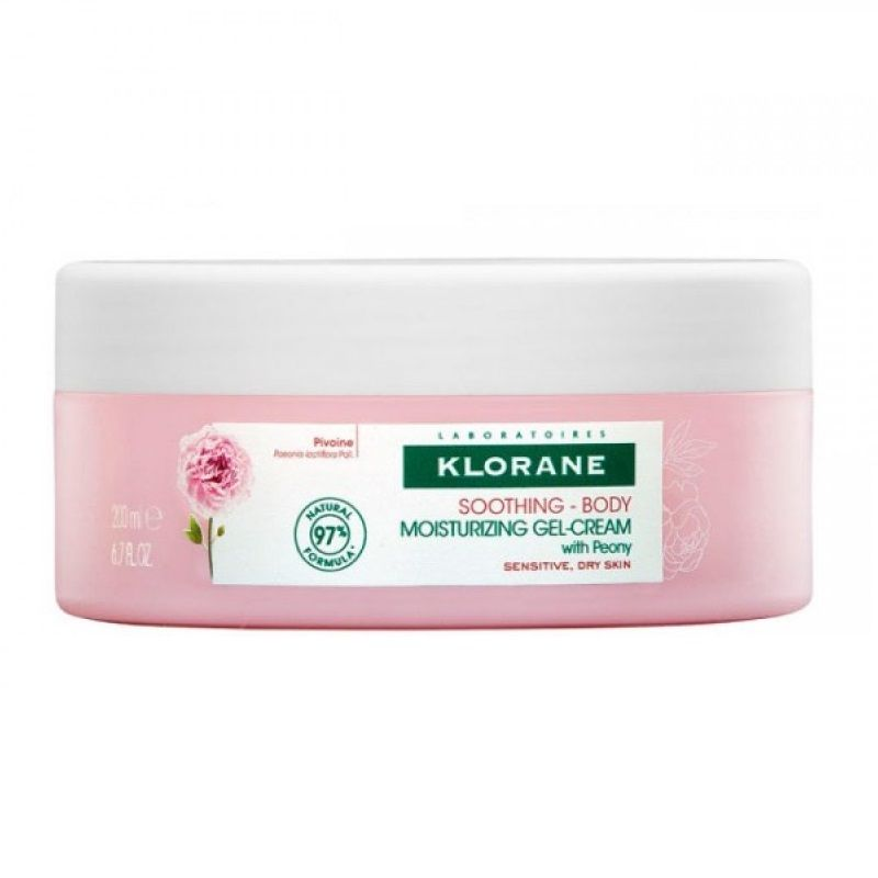 Купить Klorane Гель-крем для тела увлажняющий с экстрактом пиона 200мл