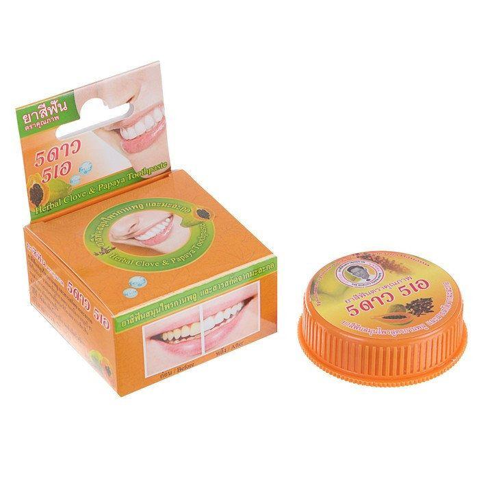 Купить 5 Star Cosmetic Травяная зубная паста с экстрактом Папайи 25г