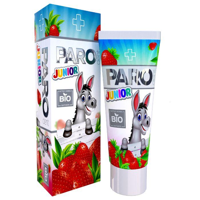 Купить Paro Dent Bio Junior Зубная паста детская с витаминами от 3 до 11 лет клубника 50мл