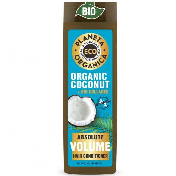 Купить Планета органика ECO бальзам для объема волос кокос 200 мл, Planeta Organica