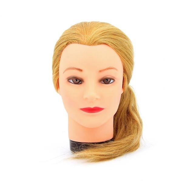 Купить Ollin Голова учебная Блондин длина волос 45-50см, 100% натуральные волосы, штатив в комплекте, Ollin Professional