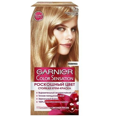 Garnier (Гарньер) КОЛОР СЕНСЕЙШН крем-краска для волос № 8.0 Переливающийся светло-русый фото