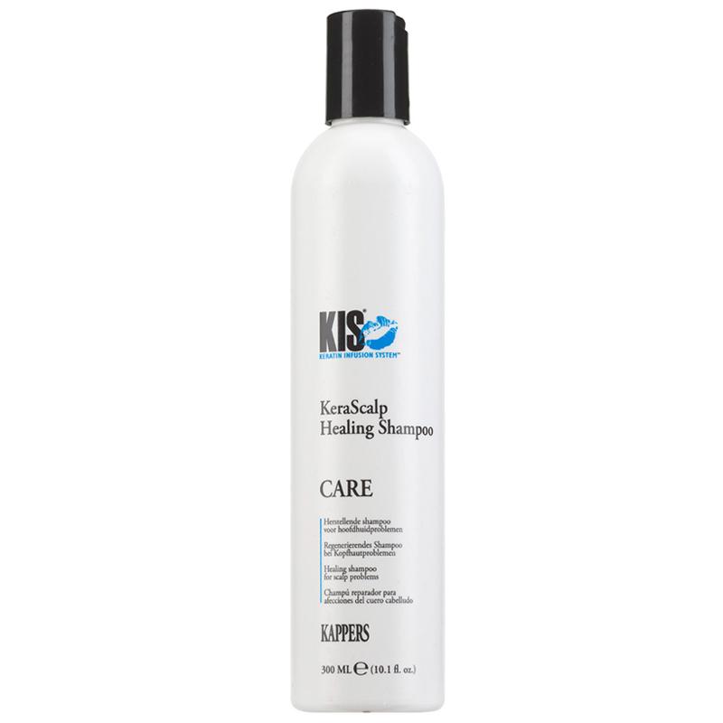 Купить Kis KERASCALP HEALING Кератиновый балансирующий шампунь для чувствительной кожи головы и сухих волос 300 мл