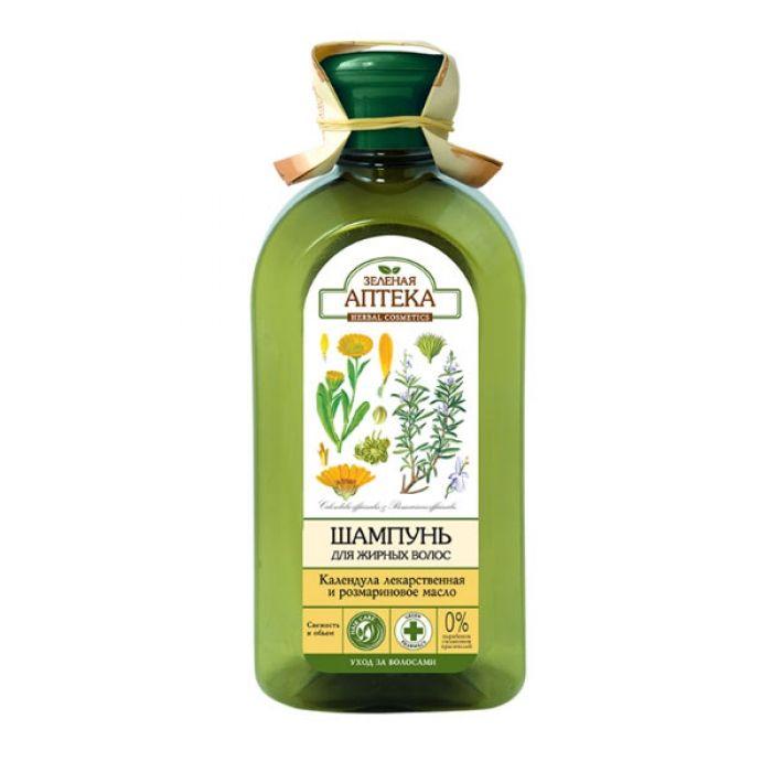 Зеленая аптека шампунь Календула/розмариновое масло для жирных волос 350 мл  - Купить