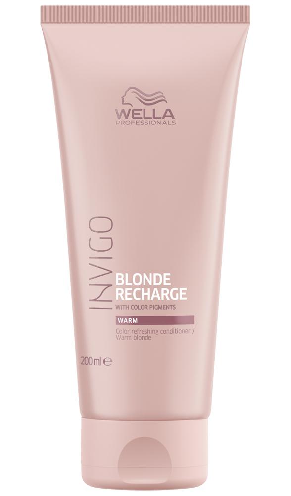 Купить Wella Invigo Blonde Recharge Оттеночный бальзам-уход для тёплых светлых оттенков 200мл