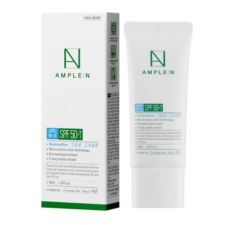 Купить Amplen Hyaluron Shot Sun Care Солнцезащитный крем для лица IRF 20 SPF 50+/PA++++ 40мл, AMPLE:N