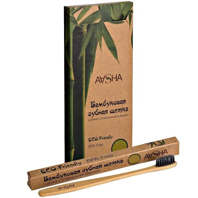 Aasha Зубная щетка Бамбуковая мягкая