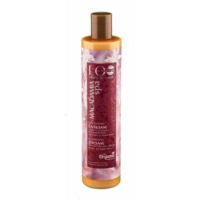 ECOLAB SPA Macadamia Бальзам питательный для сильно поврежденных и окрашенных волос Объем и глубокое восстановление 350 мл