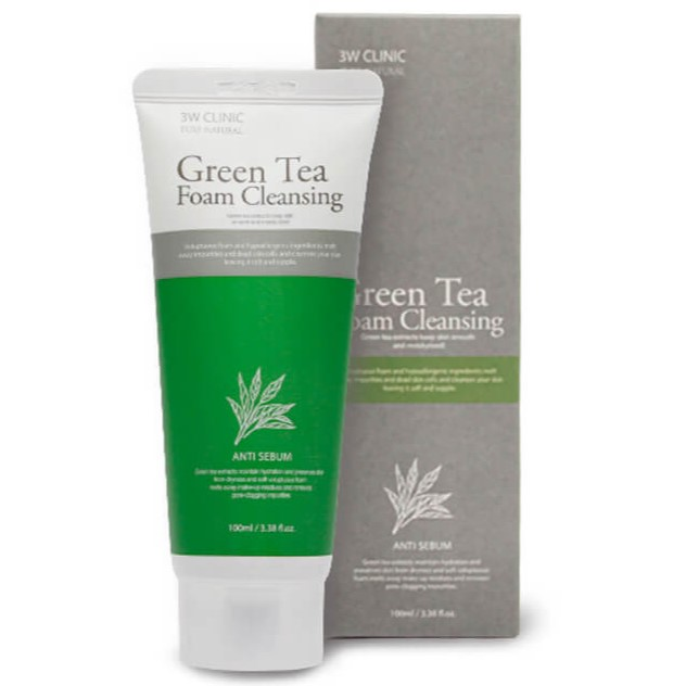 Купить 3W Clinic Пенка для умывания Зеленый чай Green Tea Foam Cleansing 100мл