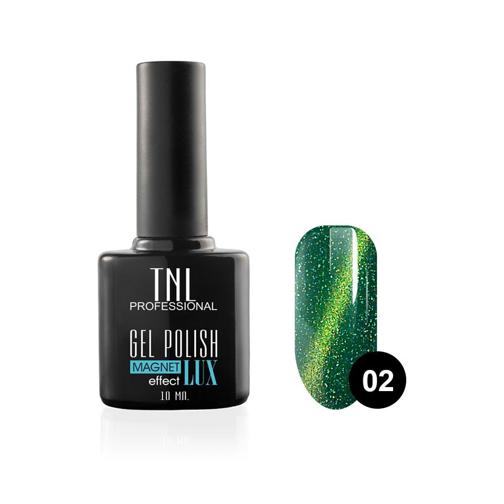 Tnl гель-лак magnet effect lux №02 - травяной с блестками 10 мл