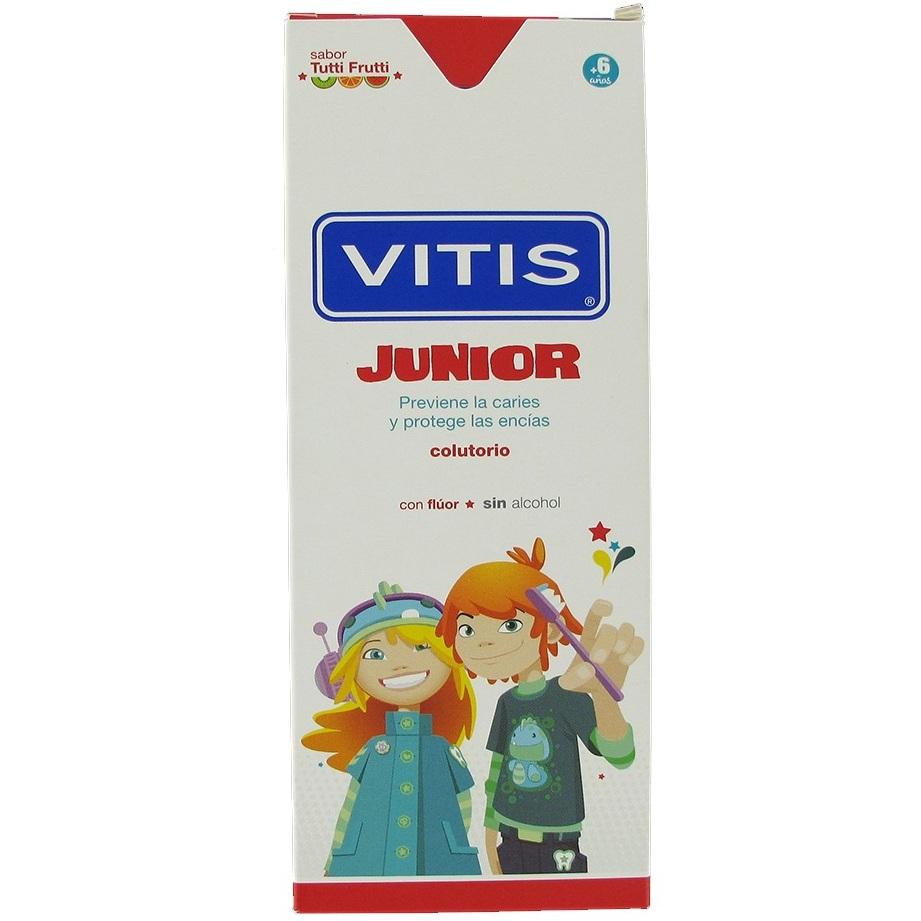 Купить Dentaid Зубная паста-гель VITIS junior детская, от 6 лет, со фтором 1450ppm, вкус тутти-фрутти, 75мл