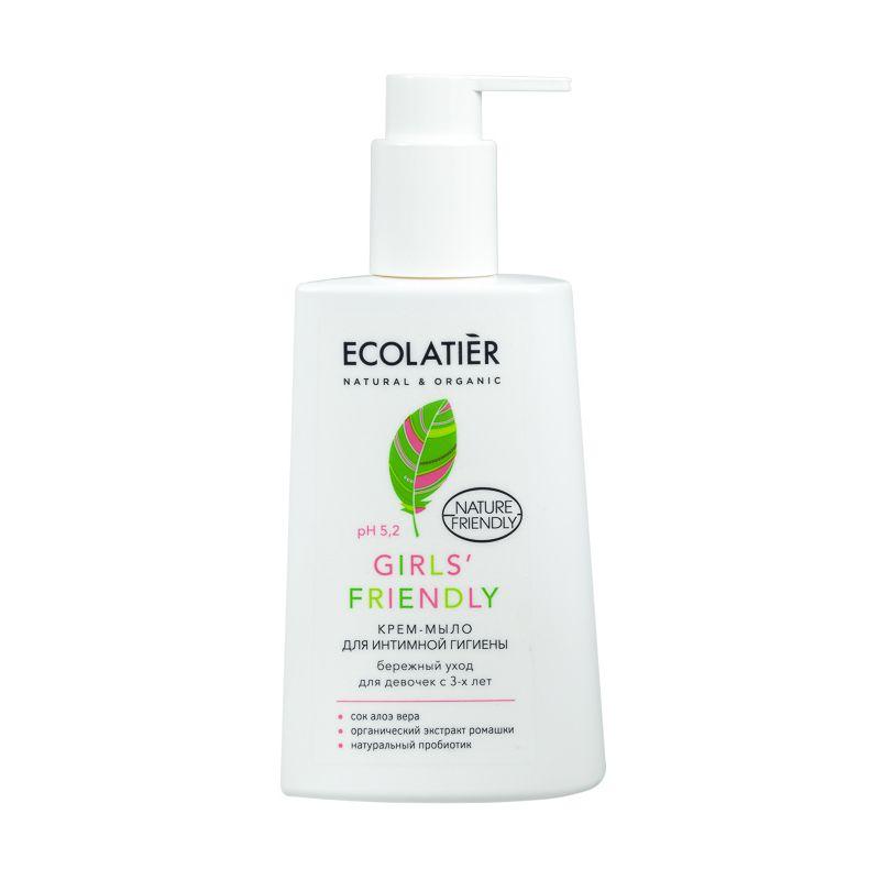 Ecolatier Крем-мыло для интимной гигиены Girls' Friendly Бережный уход для девочек с 3-х лет 250 мл фото