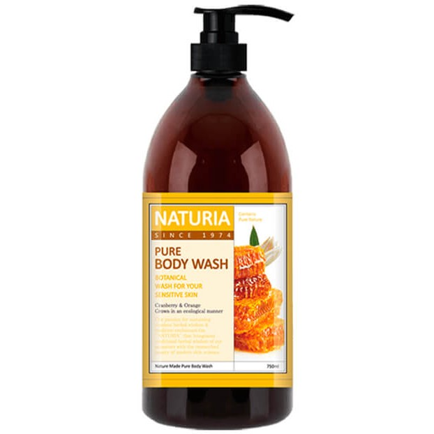 Naturia Гель для душа мед/лилия Pure body wash Honey & White Lily 750мл фото