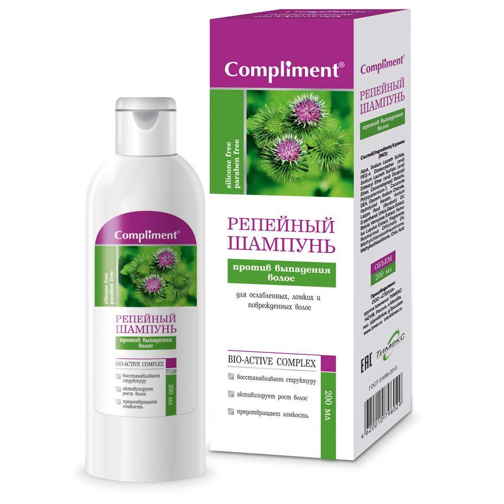 Купить Compliment Репейный Шампунь для волос против выпадения волос 200мл