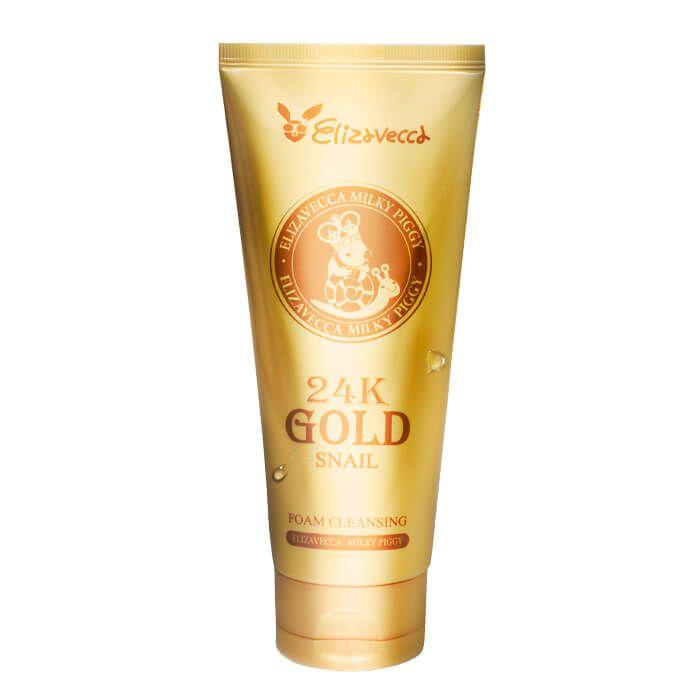 Купить Elizavecca Пенка для умывания МУЦИН УЛИТКИ И ЗОЛОТО 24K Gold Snail Cleansing Foam 180 мл