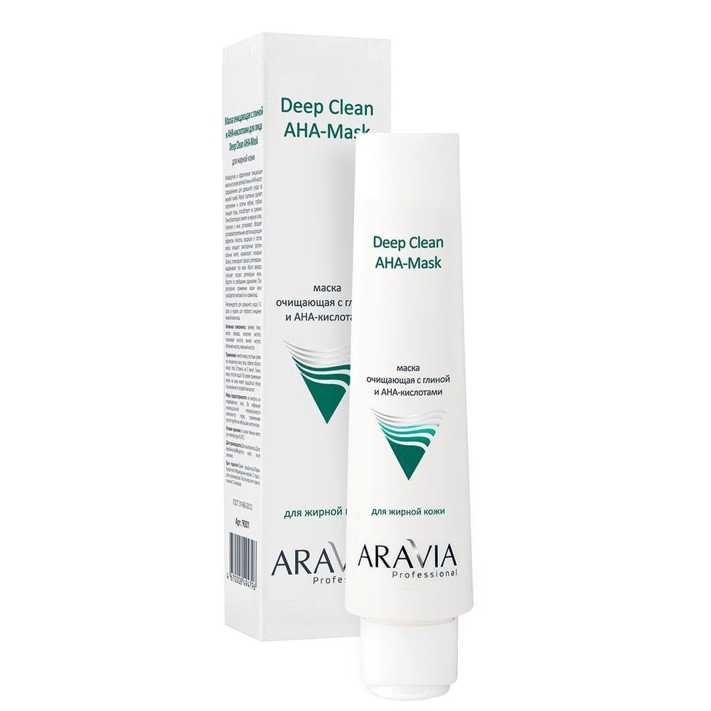 Купить Aravia Маска очищающая с глиной и AHA-кислотами для лица Deep Clean AHA-Mask 100мл, Aravia Professional