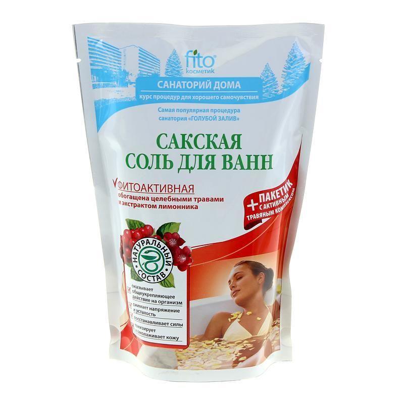 Купить Фитокосметик Санаторий дома соль для ванн Сакская фитоактивная 500г