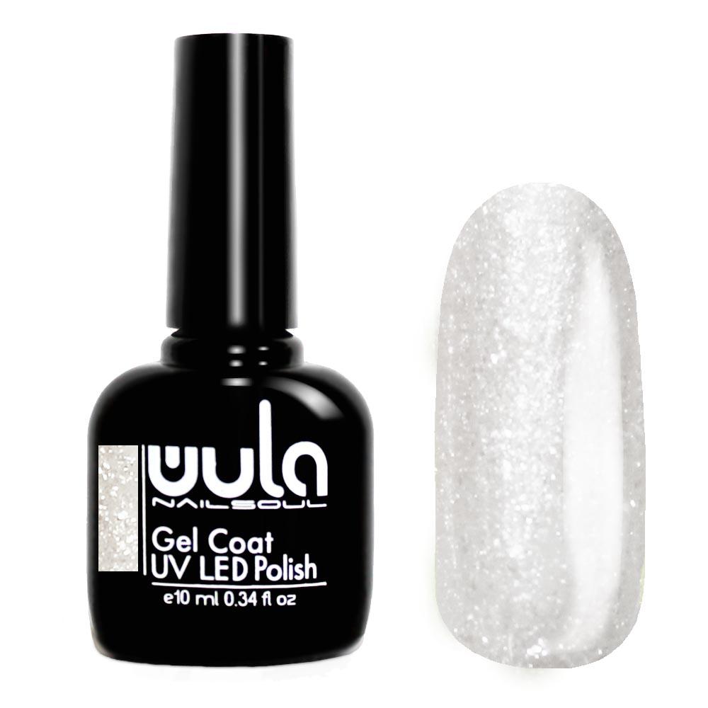 Купить Wula nailsoul гель лак 10мл тон 416 серебряный с искрящимися блёстками