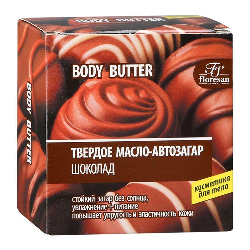 Купить Флоресан Твердое масло-автозагар Шоколад 100мл, Floresan