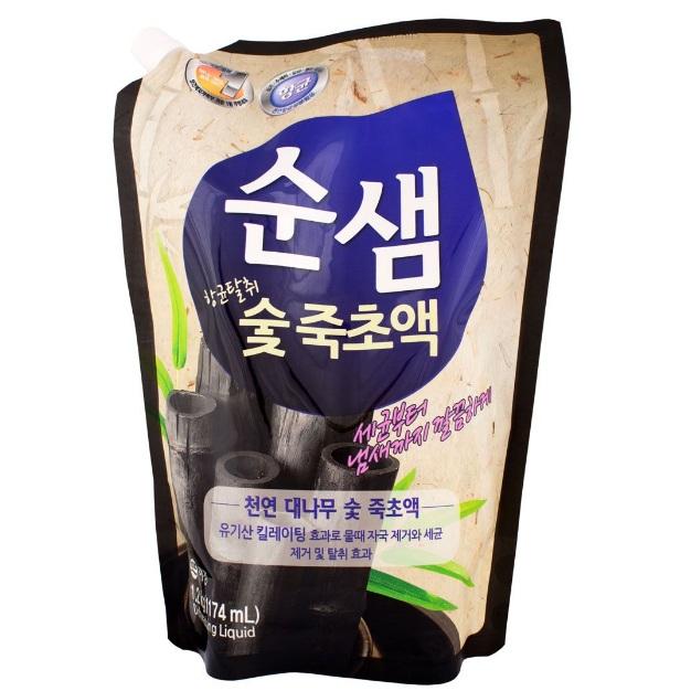 Купить KeraSys средство для мытья посуды СУНСЭМ Бамбуковый уголь 1200мл (запаска)