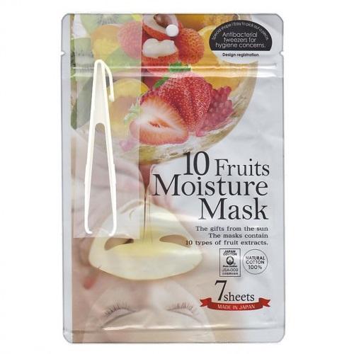 Купить Japan Gals Маска с экстрактами 10 фруктов Pure5 Essential 7 шт