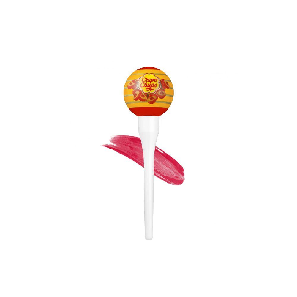 Chupa Chups Lip Locker жидкий тинт со стойким пигментом Персик 7г.