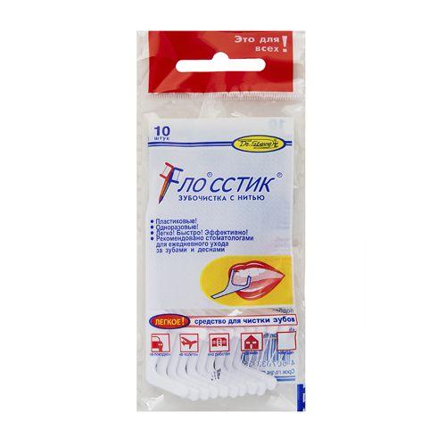 Flosstik Зубочистки с нитью 10шт