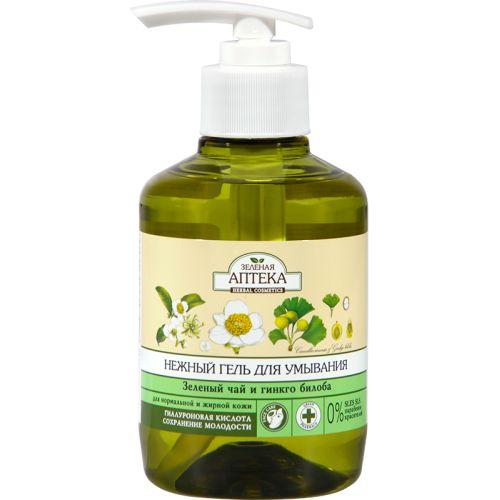 Зеленая аптека гель нежный для умывания Зеленый чай и Гинкго билоба 270 мл