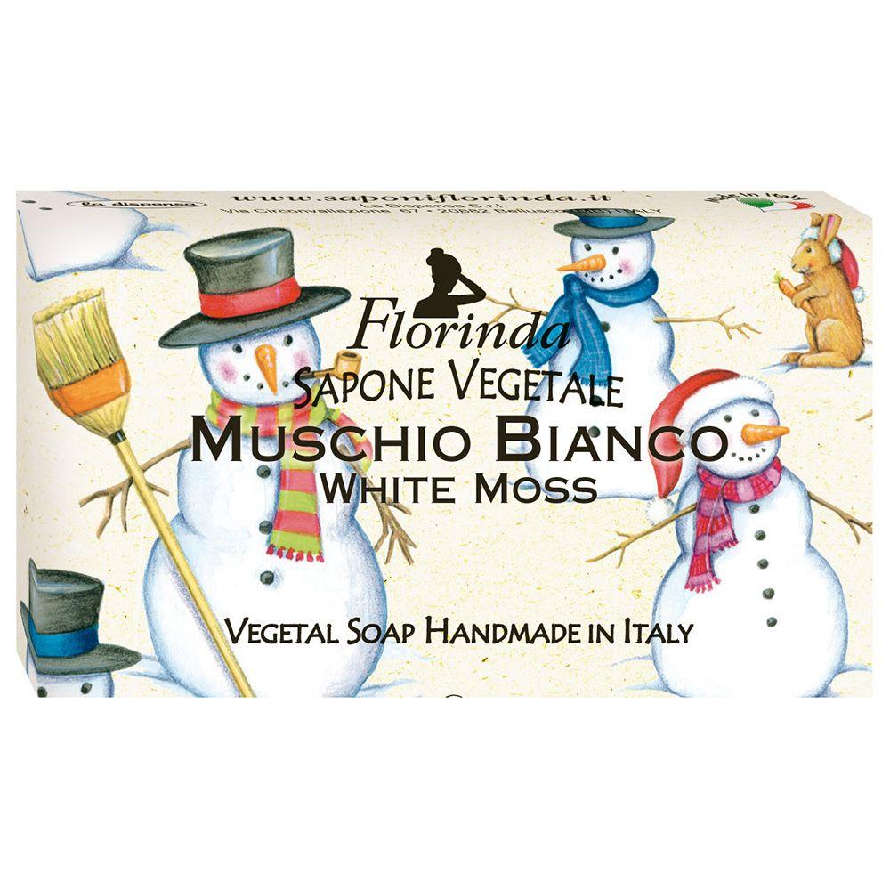Florinda мыло Счастливого Рождества Muschio Bianco Белый Мускус 100г