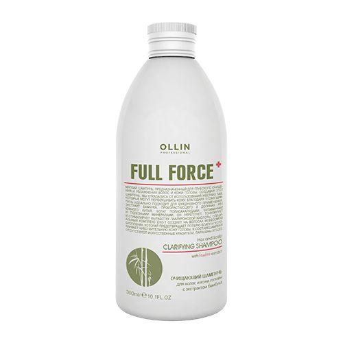 Купить Оллин/Ollin Professional FULL FORCE Очищающий шампунь для волос и кожи головы с экстрактом бамбука 300мл