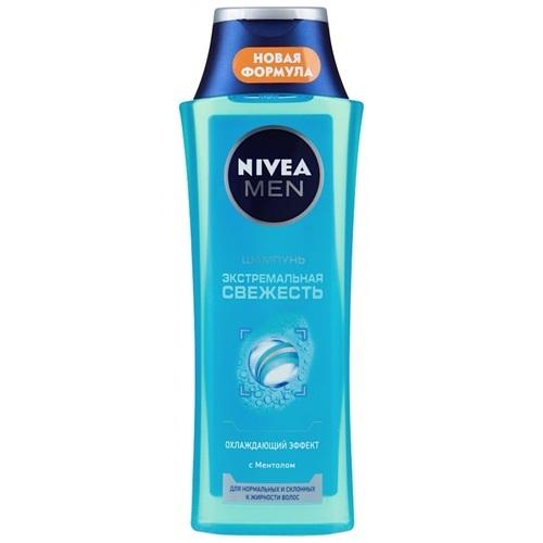 Купить Нивея для мужчин шампунь Экстремальная свежесть для норм и склонных к жирности волос 400мл, Nivea