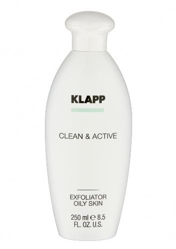 Klapp Clean & active Эксфолиатор для жирной кожи, 250 мл