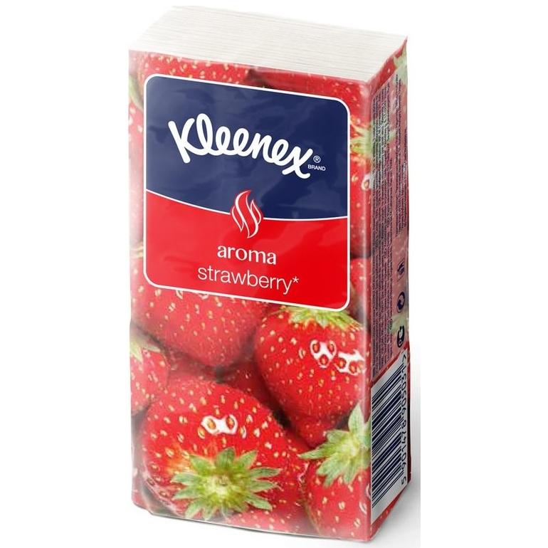 Kleenex платочки носовые клубника штучно 10шт