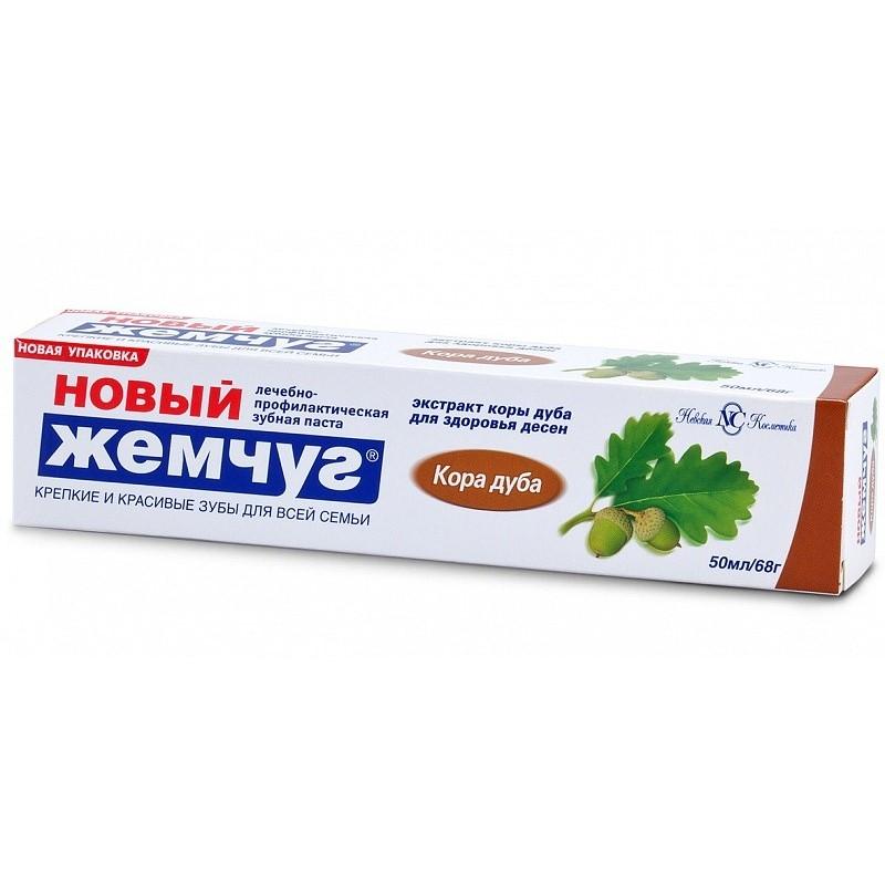 Новый жемчуг Зубная паста Кора Дуба 50мл