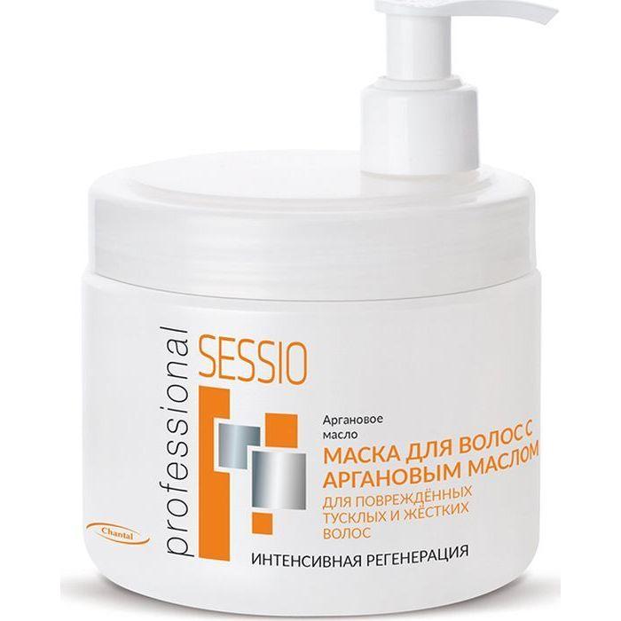Купить Sessio Маска для волос с аргановым маслом для поврежденных, тусклых и жестких волос 500г