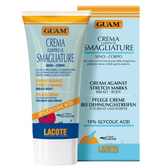 Гуам (Guam) Крем против растяжек для тела и груди с гликолевой кислотой CREMA 150мл 0026 от Лаборатория Здоровья и Красоты