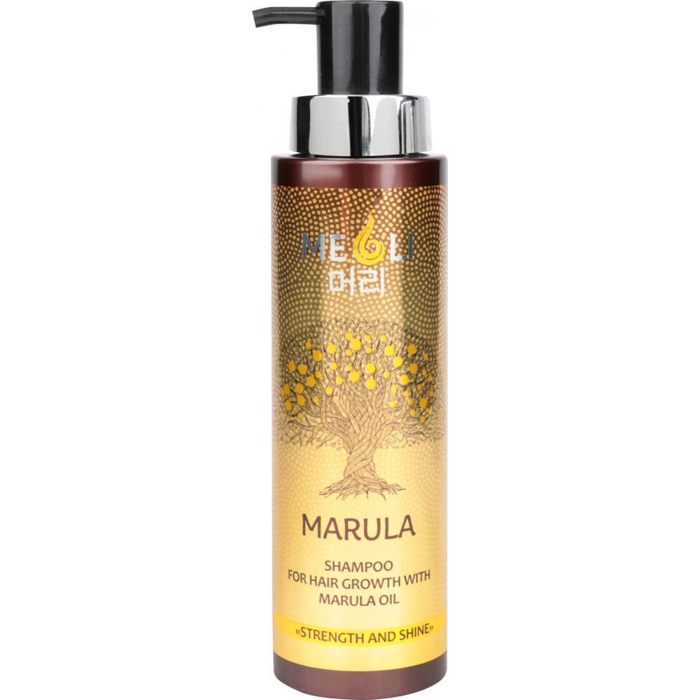 Купить MEOLI Шампунь для роста волос с маслом Марулы Сила и блеск 400мл
