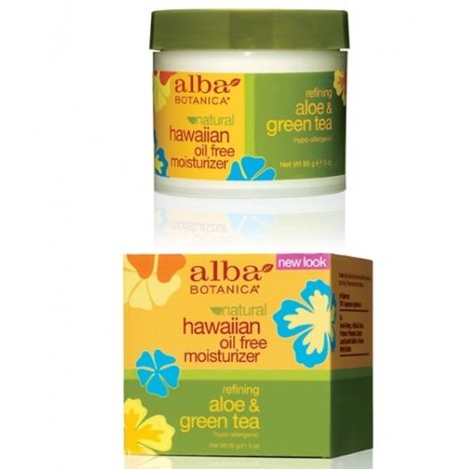 Alba Botanica Гавайский увлажняющий крем Алое и Зеленый чай Oil-Free Moisturizer 85г