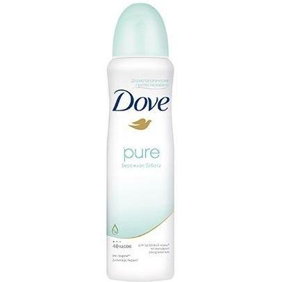 Dove дезодорант аэрозоль антиперспирант женский бережная забота для