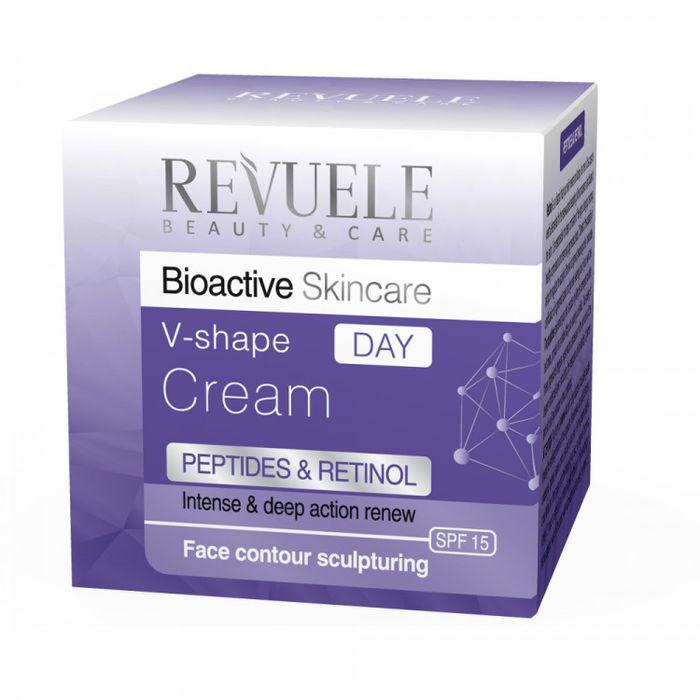 Купить Revuele Bioactive Skincare Peptides&Retinol V-shape Крем для овала лица дневной 50мл