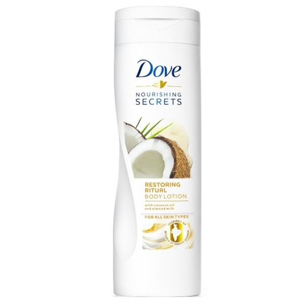Купить Dove Лосьон для тела Восстанавливающий с кокосовым маслом и миндальным молочком 250мл