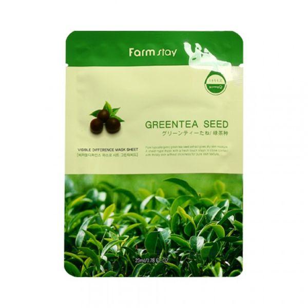 Купить FarmStay Тканевая маска для лица с экстрактом семян зеленого чая 23мл, Farm Stay