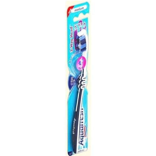 Аквафреш зубная щетка 3-Way Head средняя от Лаборатория Здоровья и Красоты