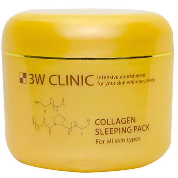 3W Clinic Маска для лица ночная Коллаген Collagen Sleeping Pack 100мл фото
