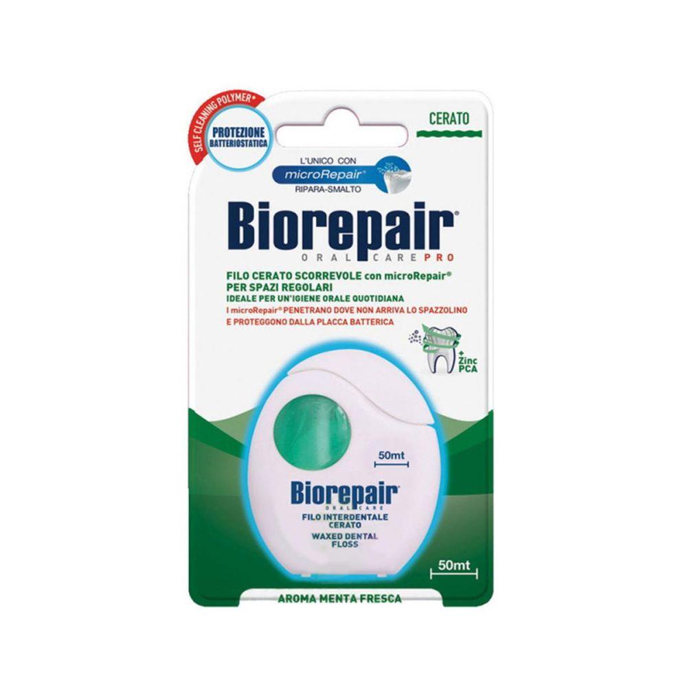 Купить Biorepair Зубная нить вощенная Waxed Dental Floss 50м