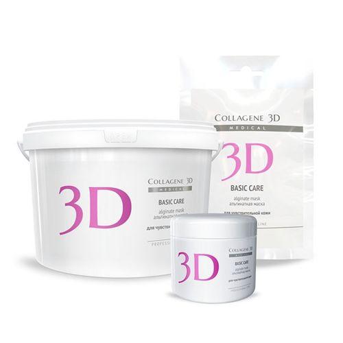 Купить Коллаген 3Д BASIC CARE Альгинатная маска для лица и тела с розовой глиной 200 г, Collagene 3D