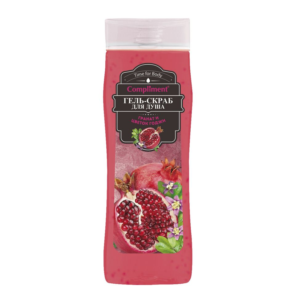 Купить Compliment Гель-скраб для душа Гранат и цветок Годжи 250мл